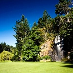 Lisa Longball Olympic Golf Club waterfall
